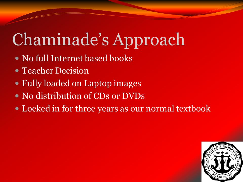 Chaminade's Approach No full Internet based books Teacher Decision