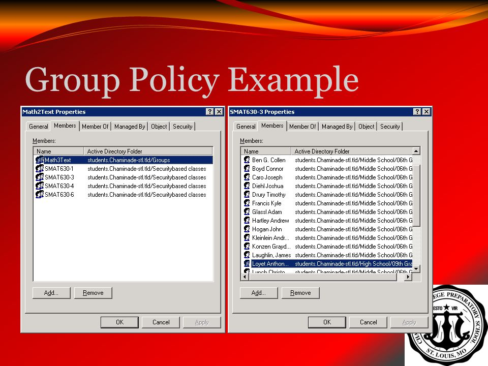 Group Policy Example