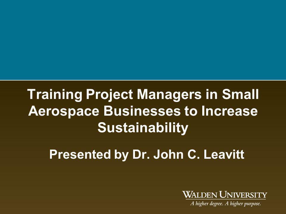 Presented by Dr. John C. Leavitt
