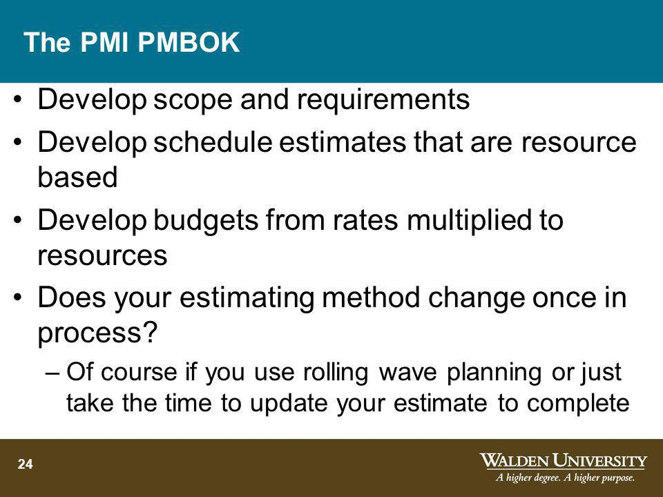 Develop scope and requirements