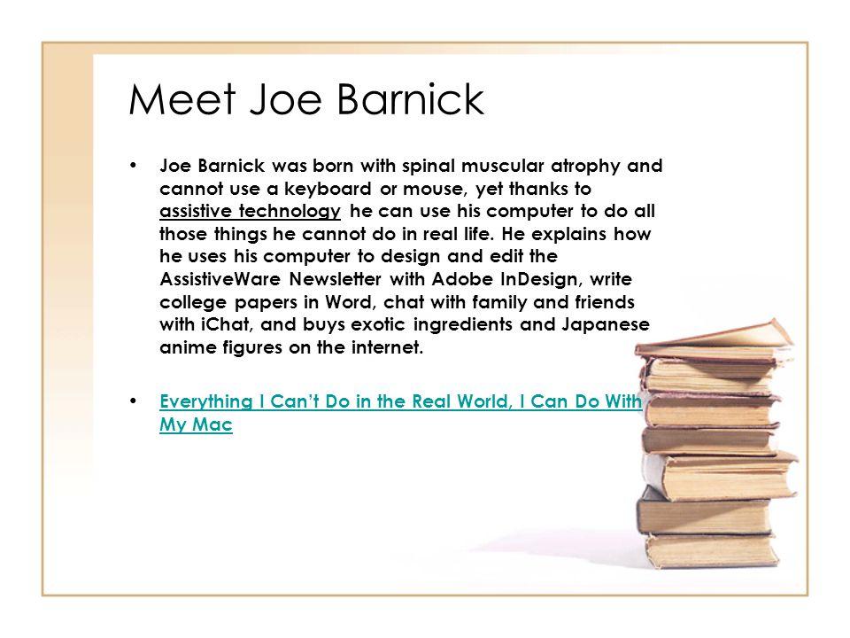 Meet Joe Barnick
