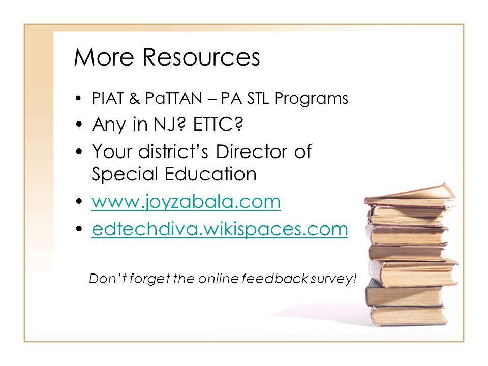 Don't forget the online feedback survey!