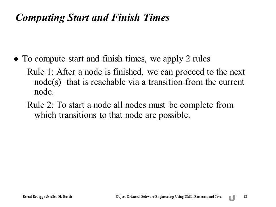 Computing Start and Finish Times