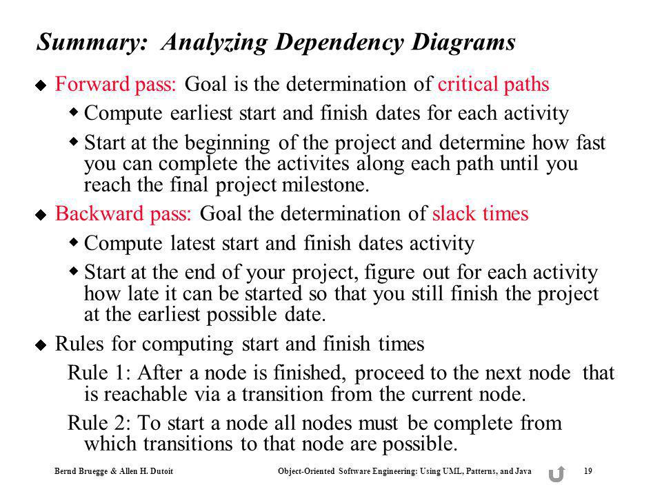 Summary: Analyzing Dependency Diagrams