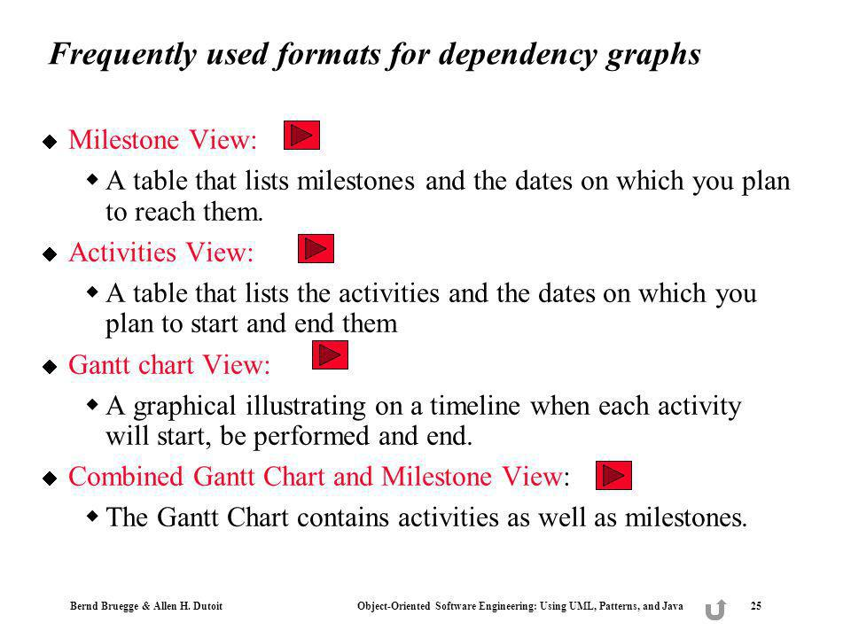 Frequently used formats for dependency graphs