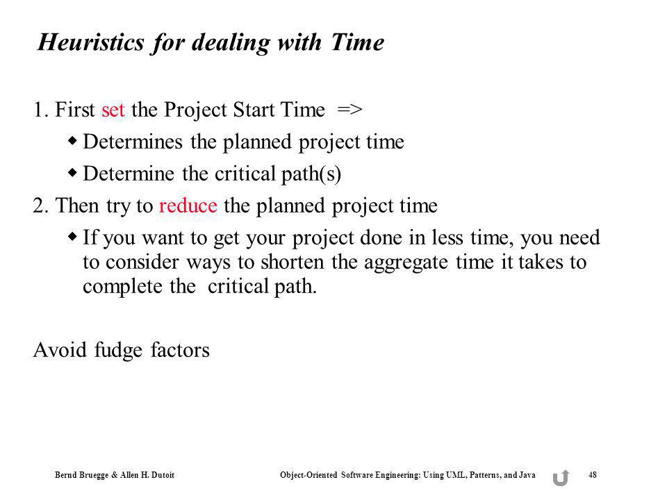 Heuristics for dealing with Time