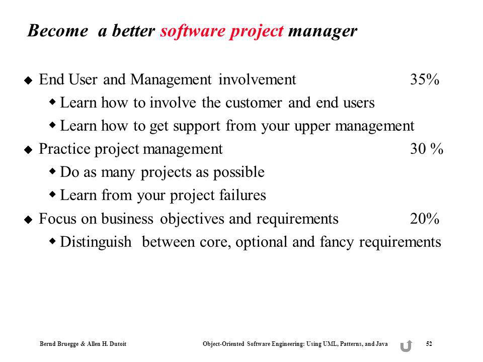 Become a better software project manager