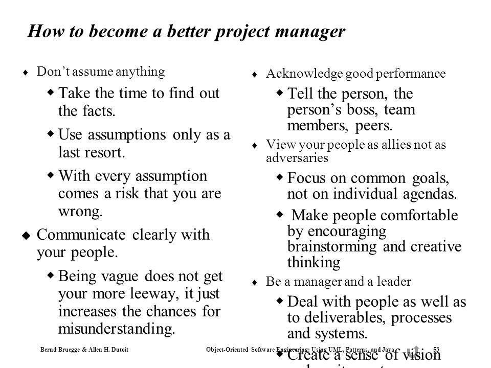 How to become a better project manager