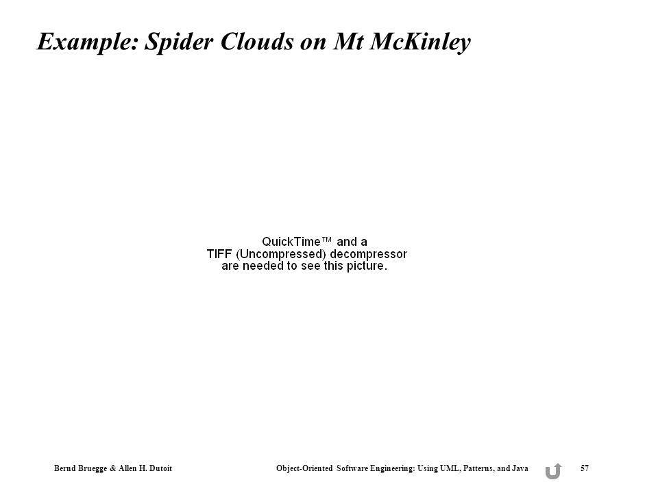 Example: Spider Clouds on Mt McKinley