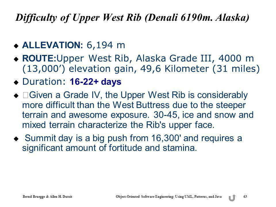 Difficulty of Upper West Rib (Denali 6190m. Alaska)