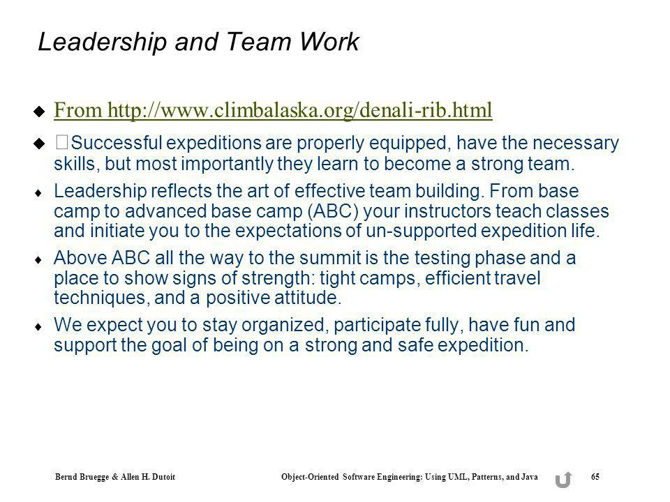 Leadership and Team Work