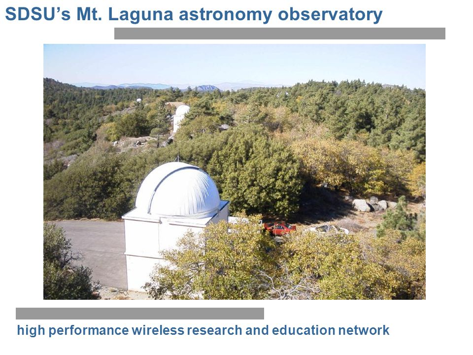 SDSU's Mt. Laguna astronomy observatory