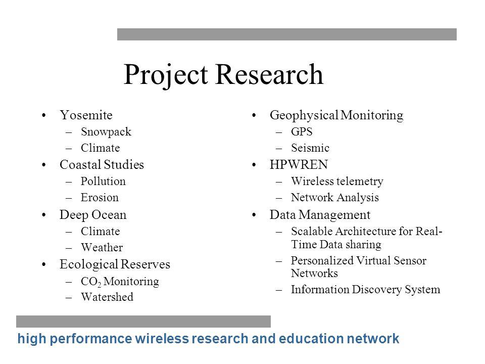 Project Research Yosemite Coastal Studies Deep Ocean