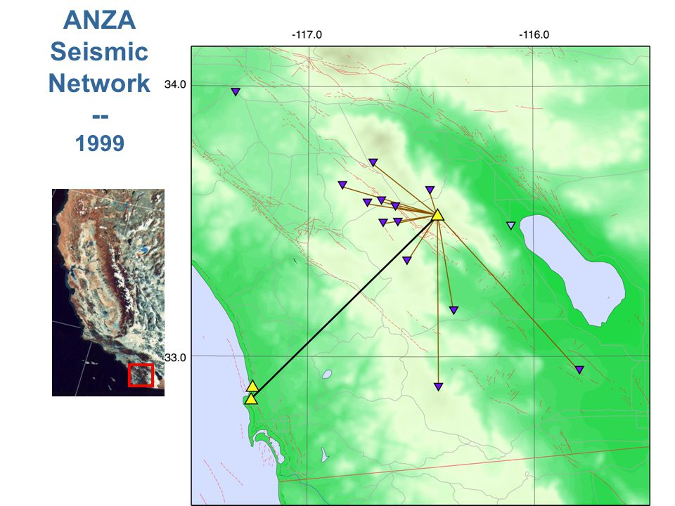 ANZA Seismic Network -- 1999