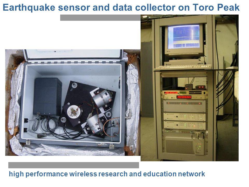 Earthquake sensor and data collector on Toro Peak