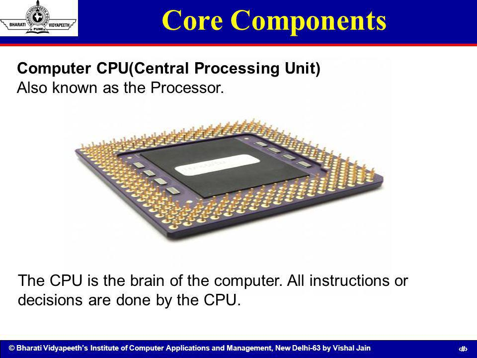 Core Components Computer CPU(Central Processing Unit)