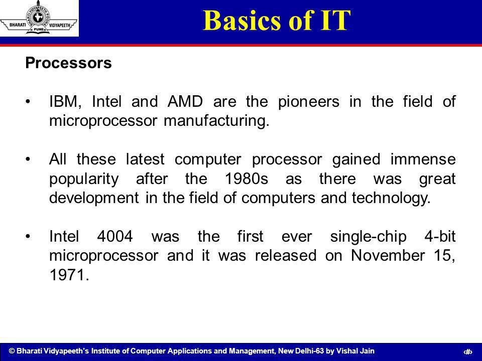 Basics of IT Processors