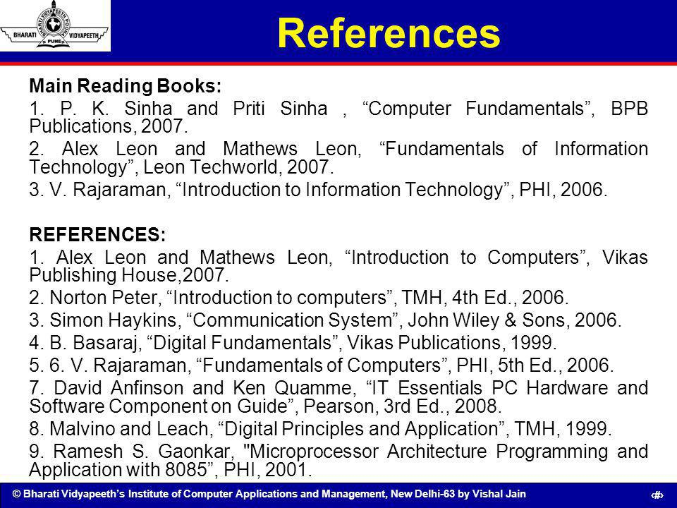 References Main Reading Books:
