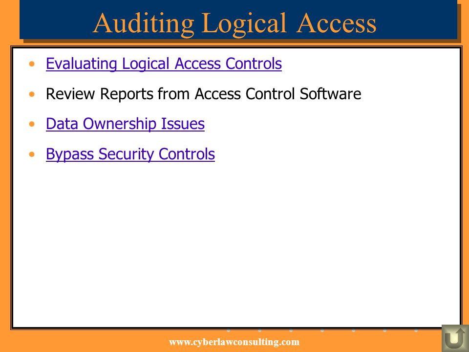 Auditing Logical Access