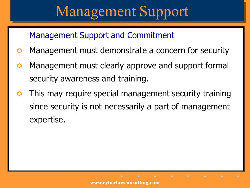 Management Support Management Support and Commitment