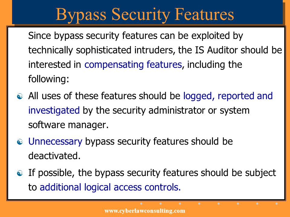Bypass Security Features