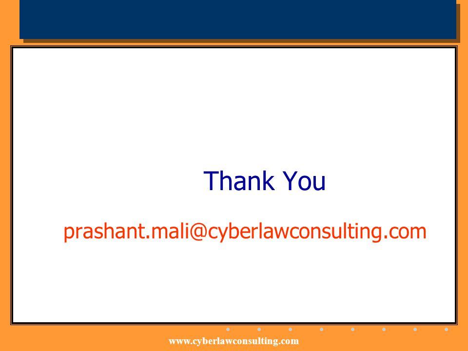Thank You prashant.mali@cyberlawconsulting.com