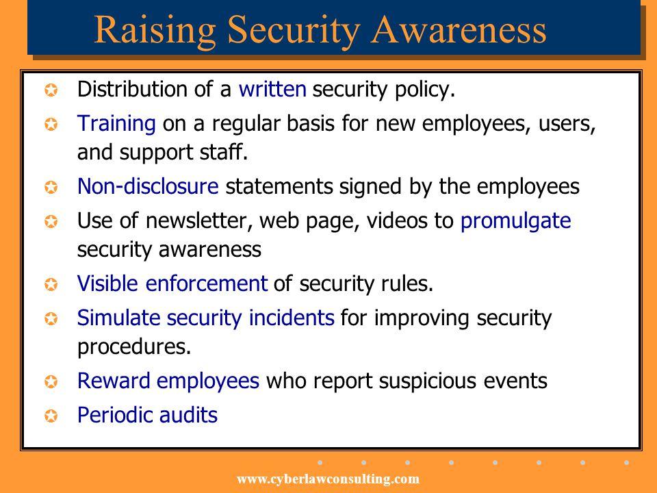 Raising Security Awareness
