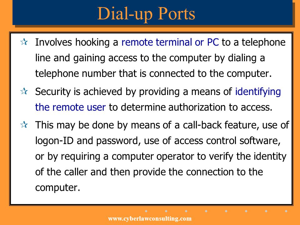 Dial-up Ports