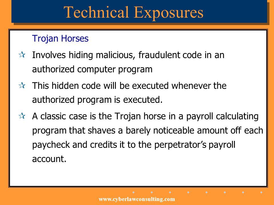 Technical Exposures Trojan Horses