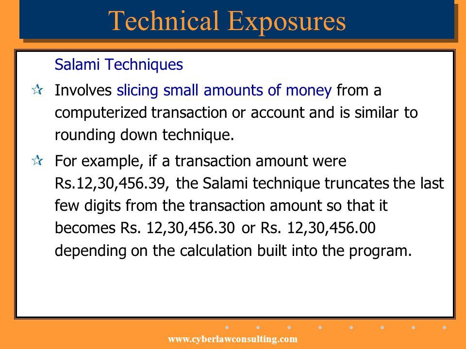 Technical Exposures Salami Techniques