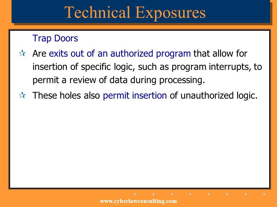 Technical Exposures Trap Doors