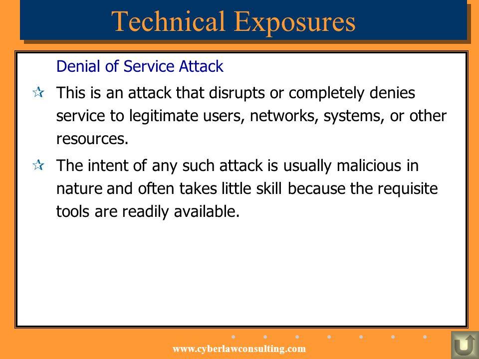 Technical Exposures Denial of Service Attack
