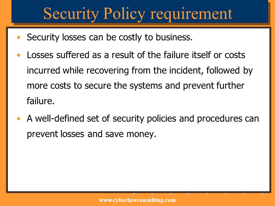 Security Policy requirement