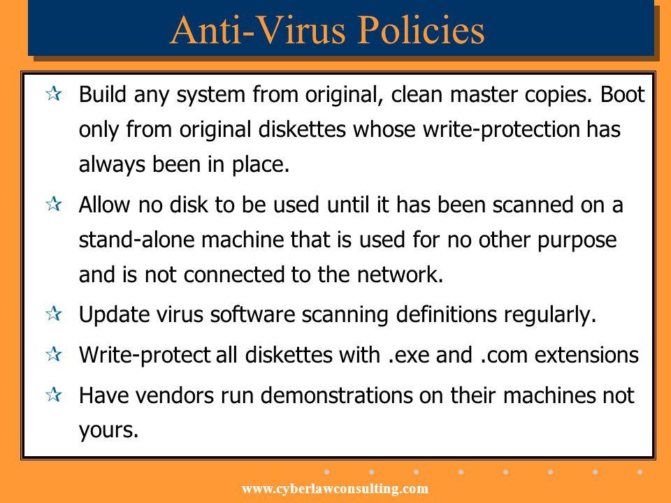 Anti-Virus Policies