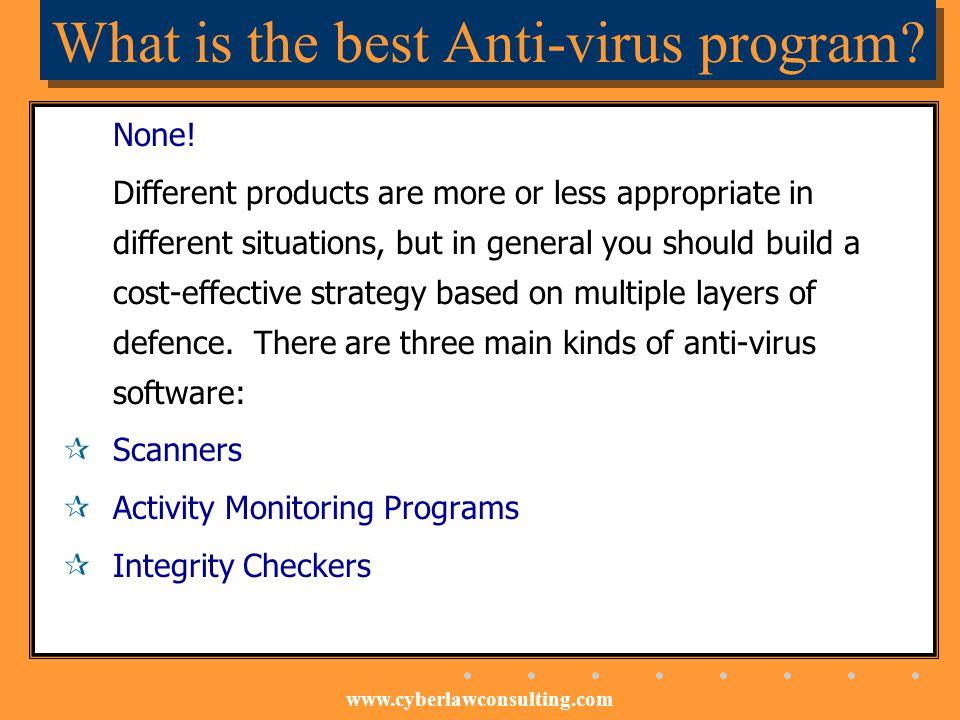 What is the best Anti-virus program