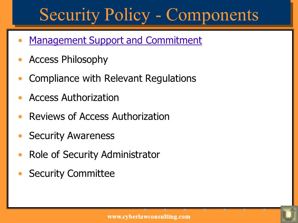 Security Policy - Components