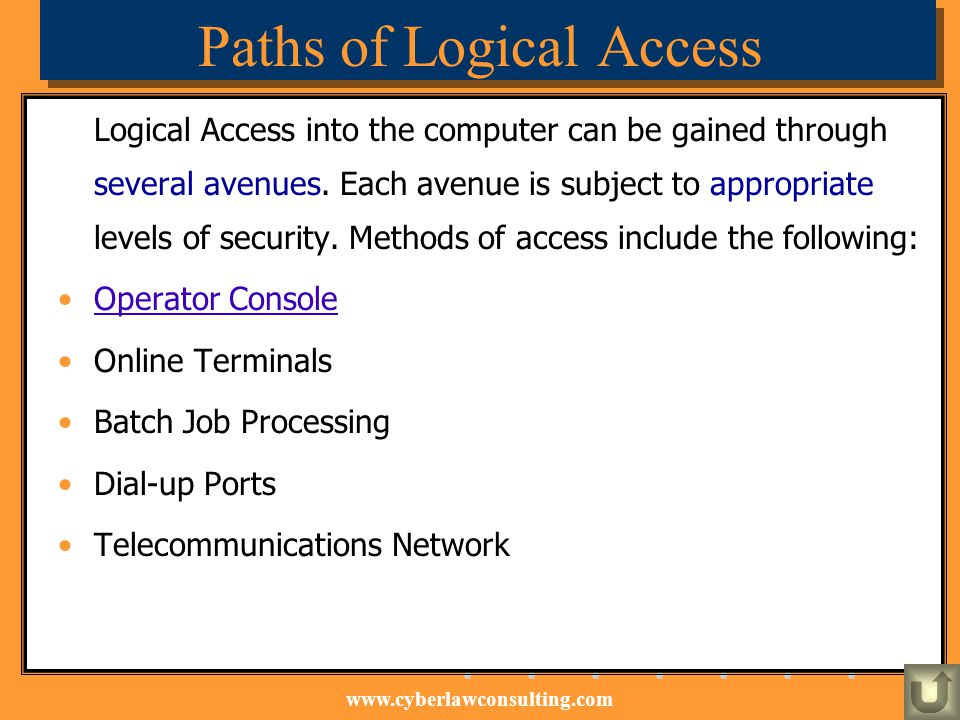 Paths of Logical Access