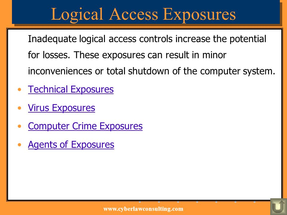 Logical Access Exposures