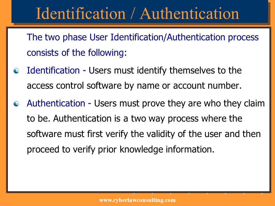 Identification / Authentication