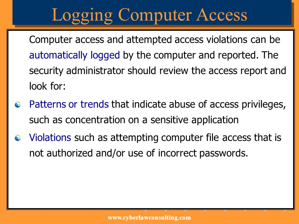 Logging Computer Access