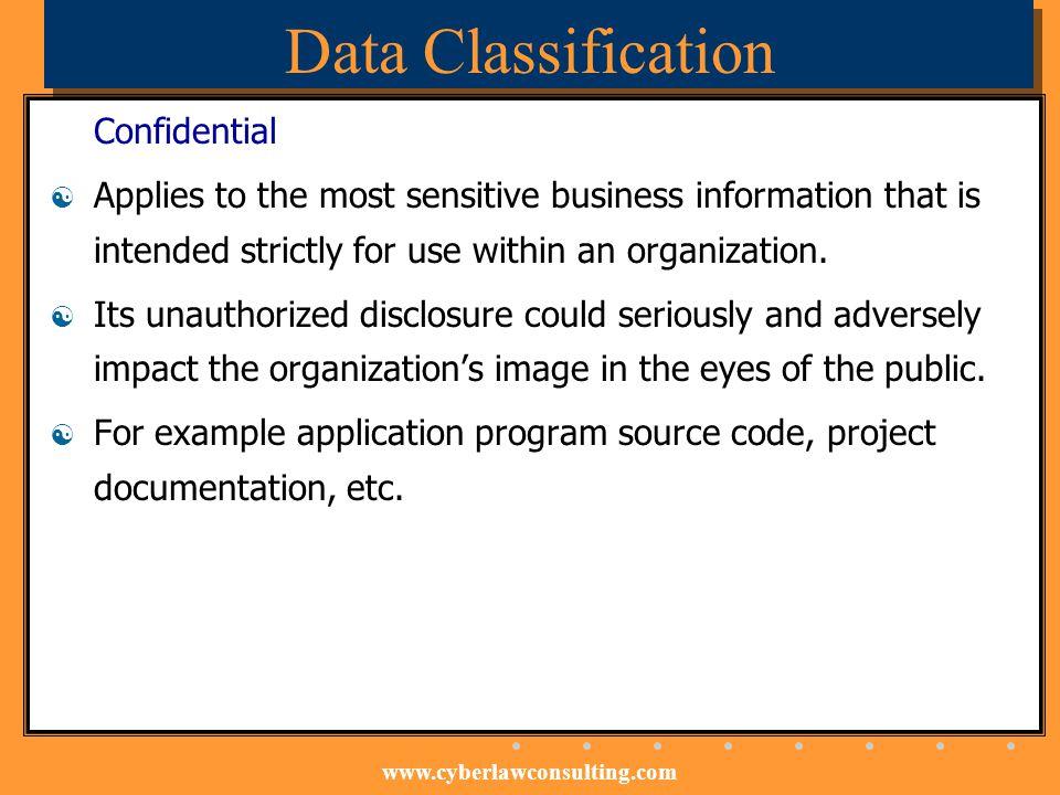 Data Classification Confidential