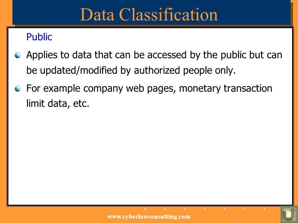 Data Classification Public