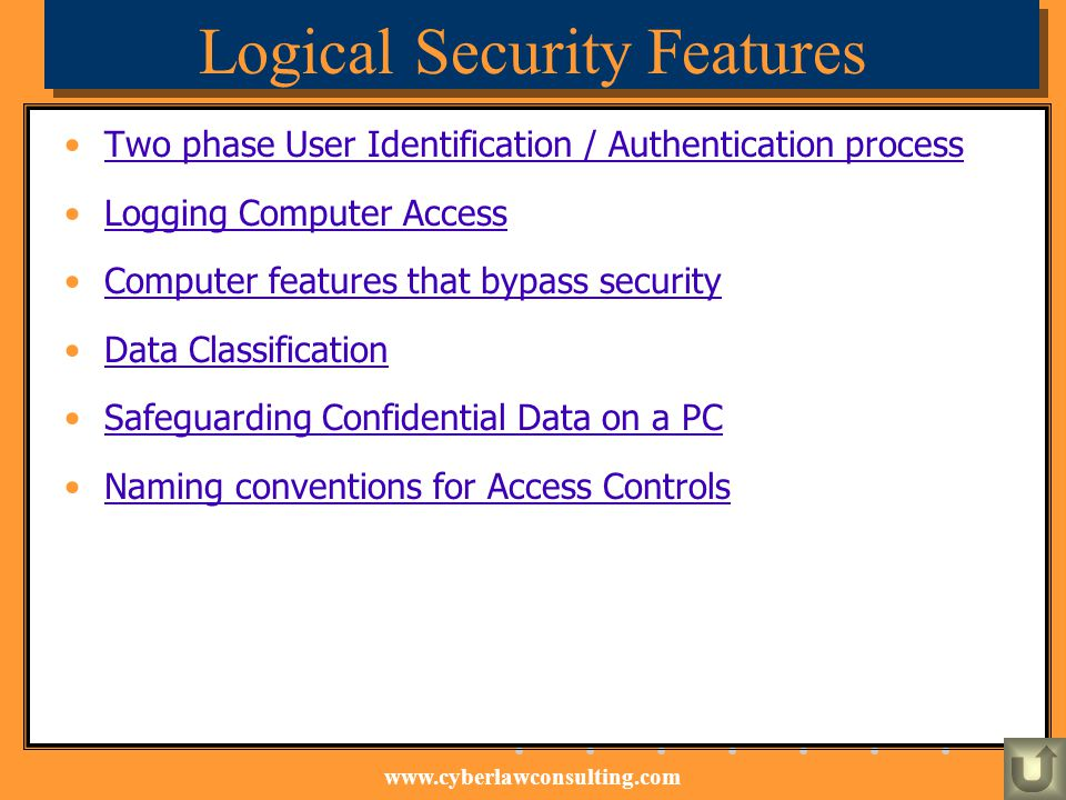 Logical Security Features