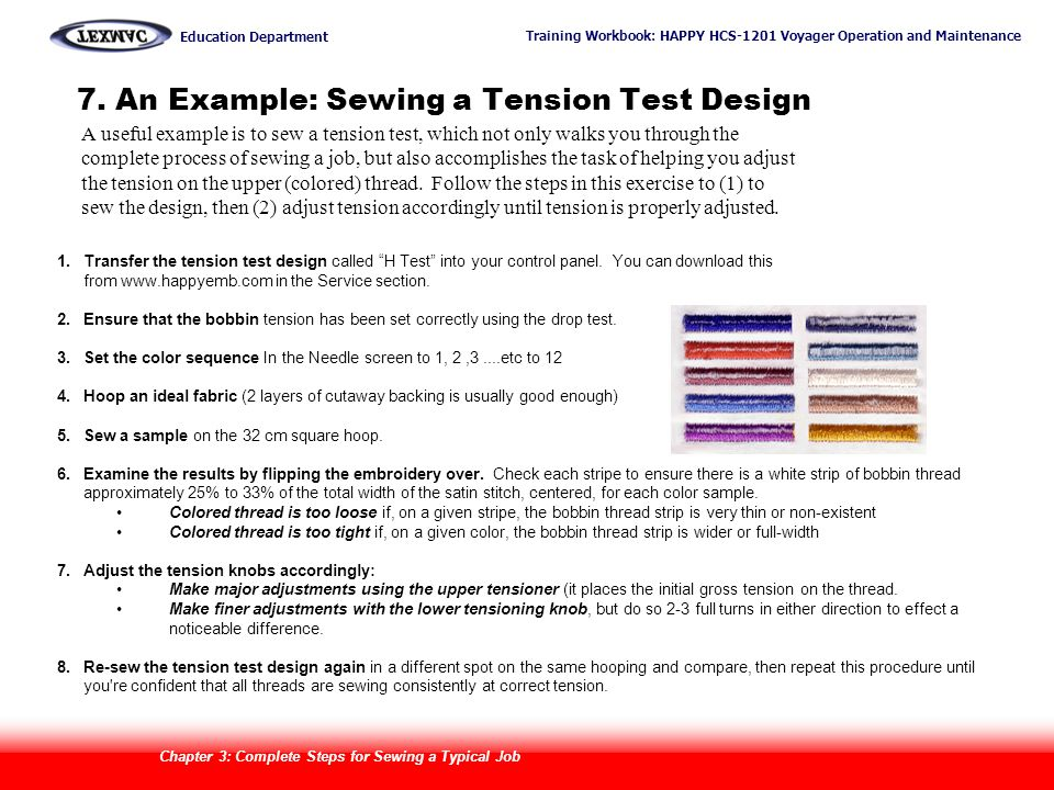 7. An Example: Sewing a Tension Test Design