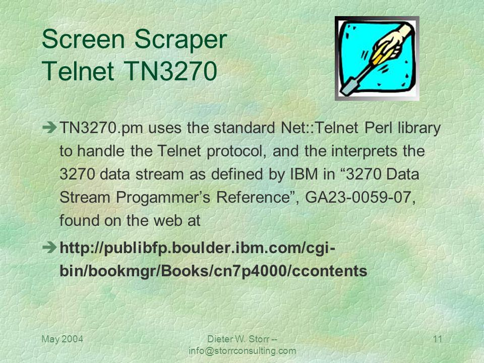 Screen Scraper Telnet TN3270