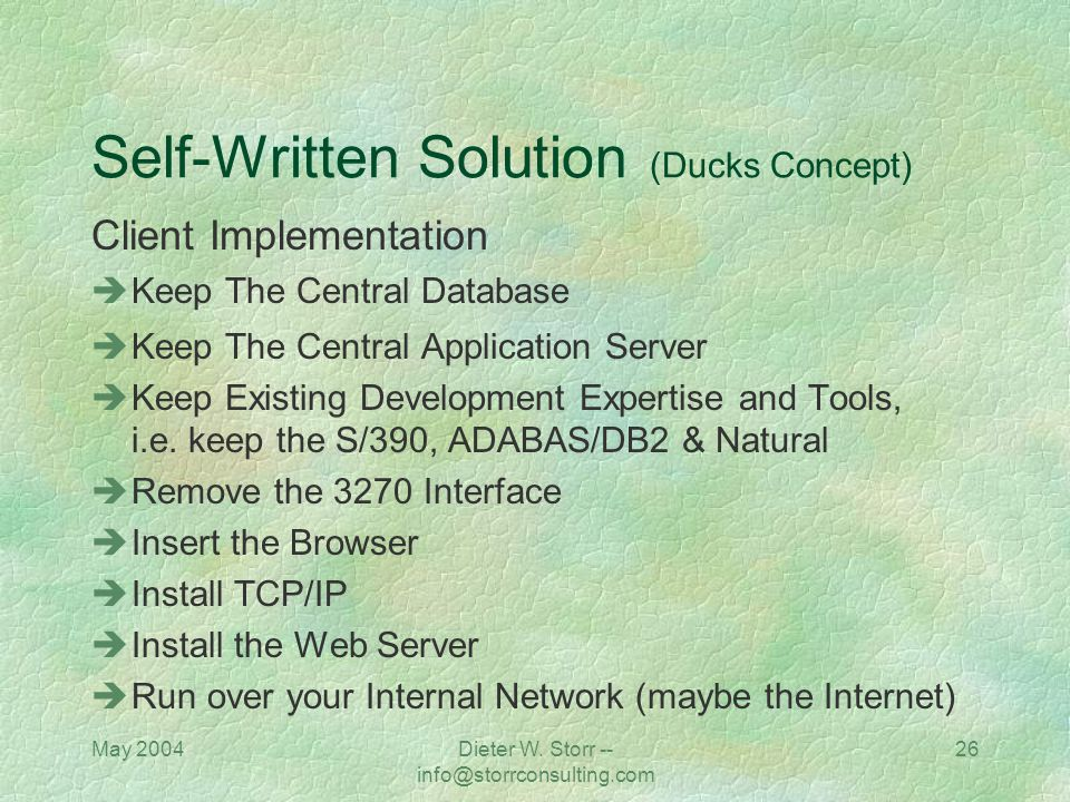 Self-Written Solution (Ducks Concept)