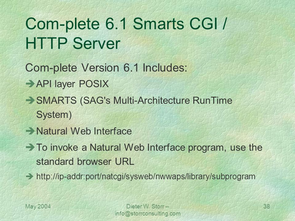 Com-plete 6.1 Smarts CGI / HTTP Server