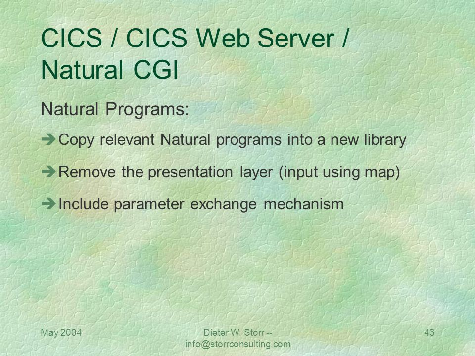 CICS / CICS Web Server / Natural CGI