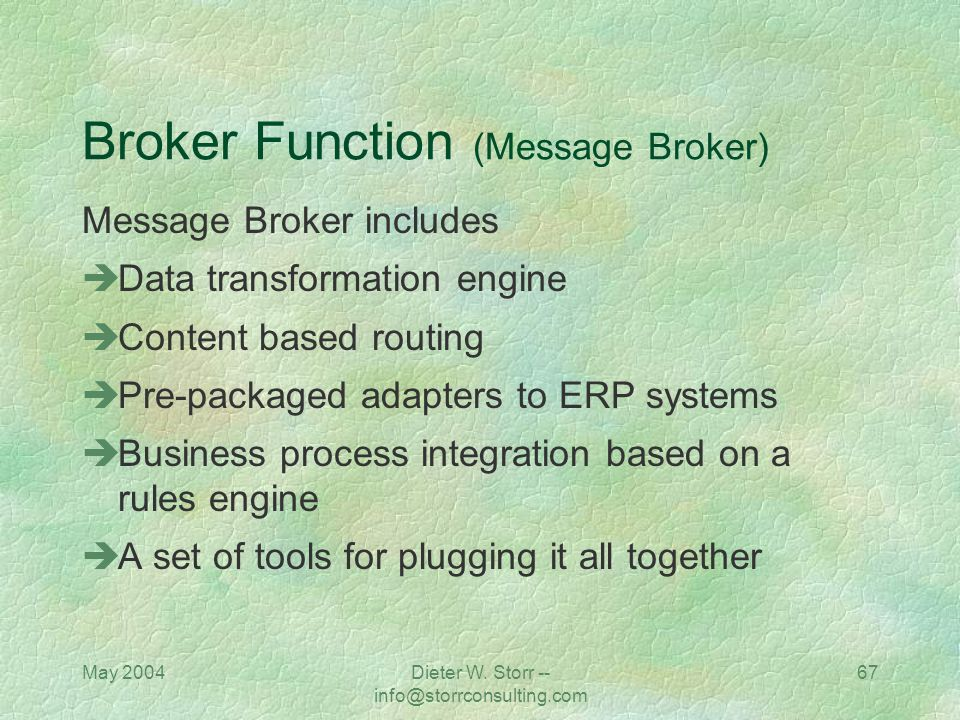 Broker Function (Message Broker)