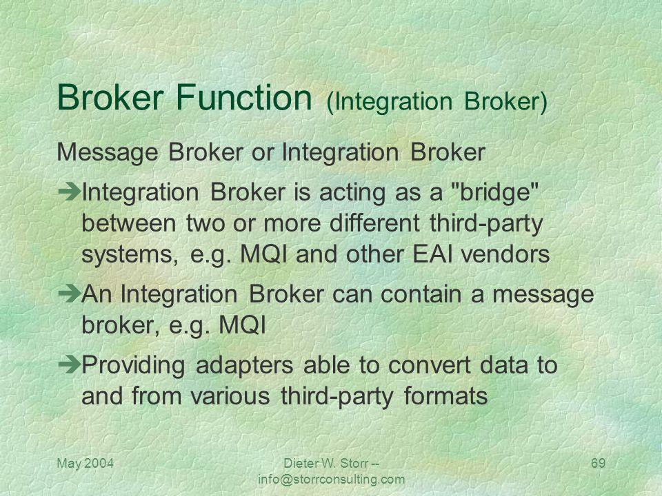 Broker Function (Integration Broker)